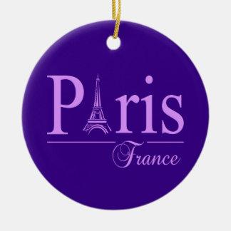 パリフランスのオーナメントは、カスタマイズ セラミックオーナメント