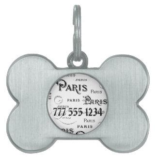 パリフランスのギフトおよび記念品 ペットネームタグ