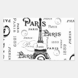 パリフランスのギフトおよび記念品 長方形シール