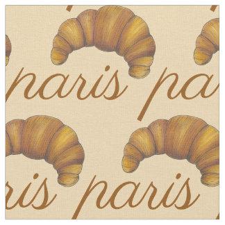パリフランスのフランスのなクロワッサンのペストリーのベーカリーの食糧 ファブリック