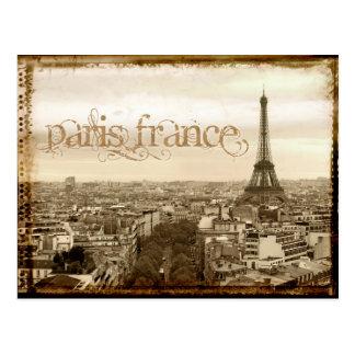 パリフランスのヴィンテージの一見 ポストカード