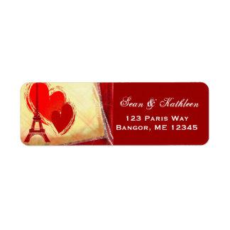 パリフランスの恋愛の住所シール ラベル