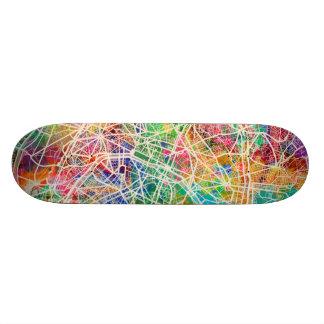 パリフランスの通り地図 スケートボード
