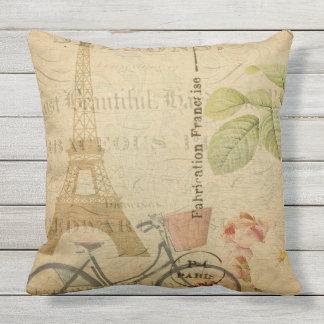パリフランスの郵便はがきのファッションのシックな屋外の枕 アウトドアクッション