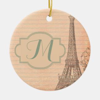 パリフランスエッフェル塔のぼろぼろのシックなオーナメント セラミックオーナメント