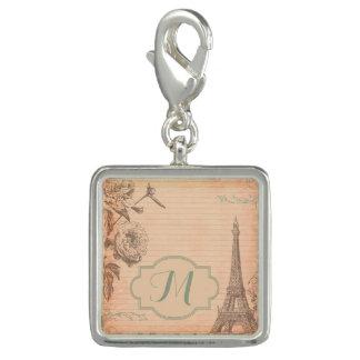パリフランスエッフェル塔のモノグラムのイニシャルのチャーム チャーム