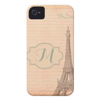 パリフランスエッフェル塔のモノグラムのIphone 4ケース Case-Mate iPhone 4 ケース