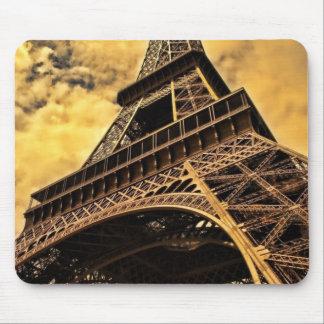 パリフランスエッフェル塔の日没 マウスパッド