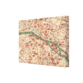 パリフランス(1910年)のヴィンテージの地図 キャンバスプリント