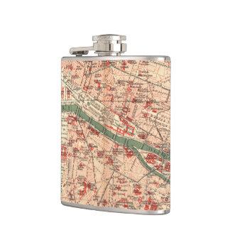 パリフランス(1910年)のヴィンテージの地図 フラスク
