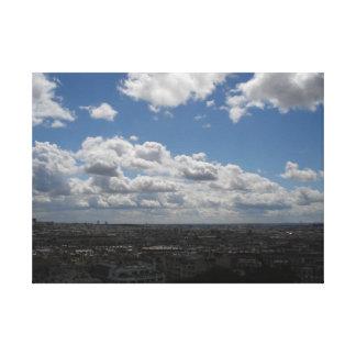 パリ上の青空 キャンバスプリント