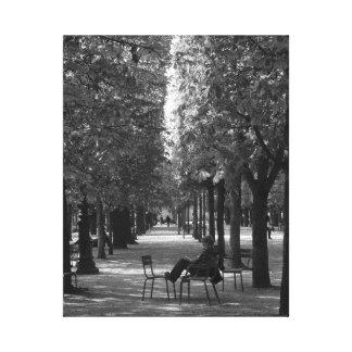 パリ公園 キャンバスプリント