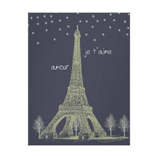 パリ夜 キャンバスプリント