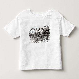 パリ植物園からの迷路 トドラーTシャツ