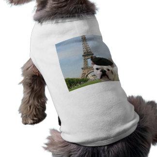 パリ犬のワイシャツのフレンチ・ブルドッグ ペット服