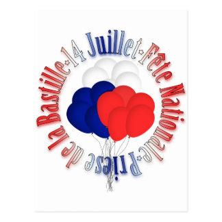 パリ祭は郵便はがきを風船のようにふくらませます ポストカード