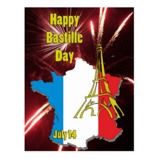 パリ祭7月14日 ポストカード