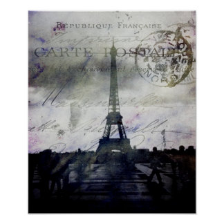 パリ織り目加工のポスター ポスター