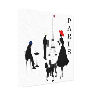 パリ都市 キャンバスプリント
