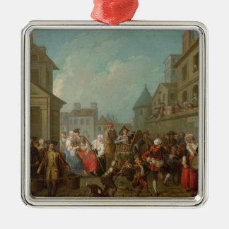パリ1757年の通りのカーニバル メタルオーナメント