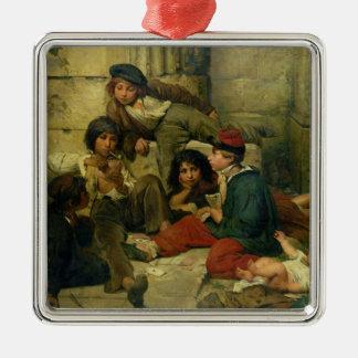 パリ1852年の通りの子供 メタルオーナメント