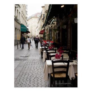 パリ2のビストロ ポストカード