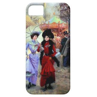 パリ2の女性絵を描くこと iPhone SE/5/5s ケース
