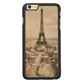 パリ: エッフェル塔1900年 CarvedメープルiPhone 6 PLUS スリムケース