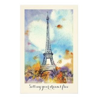 パリ。 エッフェル塔 便箋