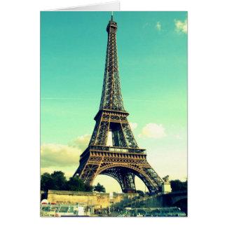 パリ/エッフェル塔Notecard (ブランク) カード