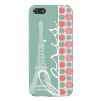 パリ; サケ、珊瑚のピンク、及びSeafoam iPhone SE/5/5sケース