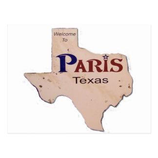 パリ、テキサス州へようこそ ポストカード