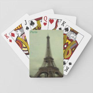パリ、フランスのエッフェル塔のレトロの眺め トランプ