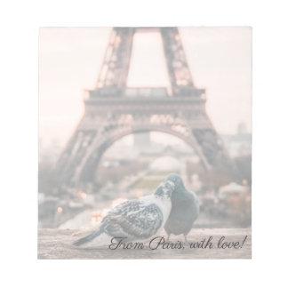 パリ、フランスのメモ帳 ノートパッド