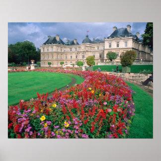 パリ、フランスのルクセンブルク宮殿 ポスター