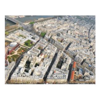 パリ、フランスの空中写真 ポストカード