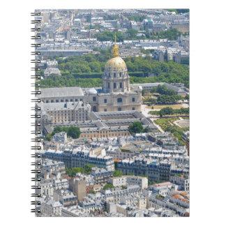 パリ、フランスのLes Invalides ノートブック