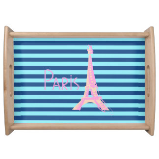 パリ、フランス及びエッフェル塔 トレー