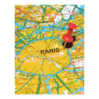 パリ、フランス レターヘッド