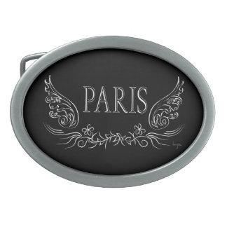 パリ、フランス 卵形バックル