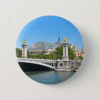 パリ、フランス 5.7CM 丸型バッジ