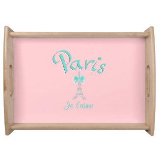 パリ、フランスJe T'aime トレー