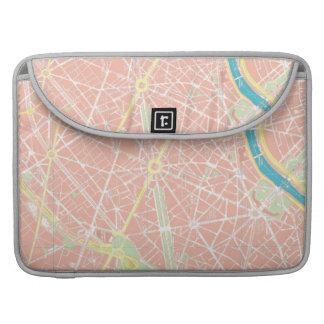 パリ、フランスMacbookのの通り地図袖 MacBook Proスリーブ