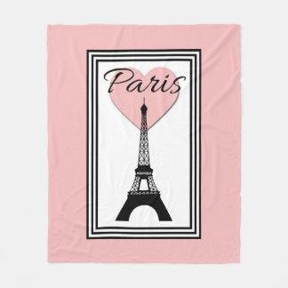 パリ フリースブランケット