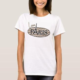 パリ; ブラウンシェブロン Tシャツ