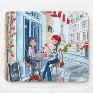 パリ-マウスパッドの茶 マウスパッド