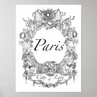 パリ: 愛ポスター芸術の絵の都市 ポスター