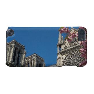 パリ、春の花が付いているフランスのNotre Dame iPod Touch 5G ケース