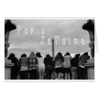パリ、私は愛します カード