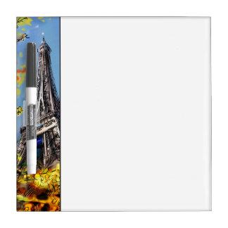 パリ-絵の通り ホワイトボード